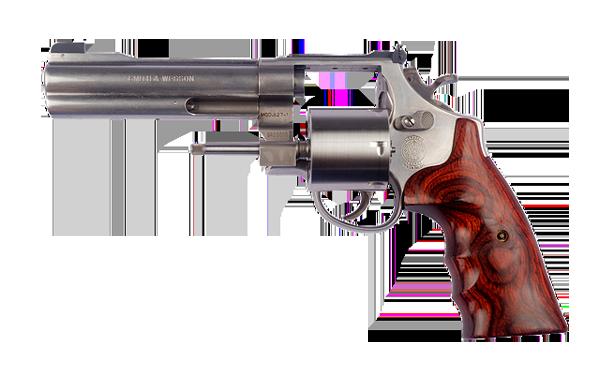 Die schusssichere Weste schützt vor Pistolen Angriffen, im Bild ist ein Smith & Wesson abgebildet