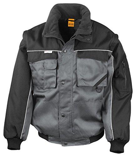 RT71 Workguard Heavy Duty Jacke Arbeitsjacke winddicht wasserabweisend, Farbe:Grey-Black;Größen:M M,Grey-Black