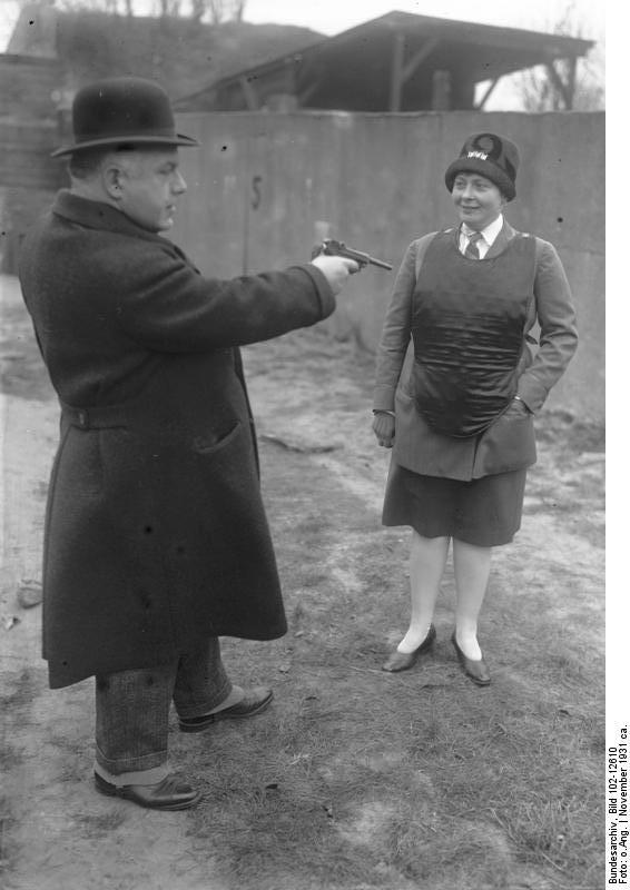 Kugelsichere Weste - Berlin 1931